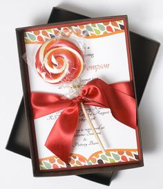 Luxury, Autumn Wedding Invitation Lollipop - AUTUMN SPLENDOR via Etsy