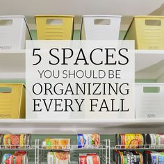 Fall Clean Up: 5 Spaces to Organize Every Fall