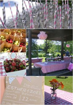 The Complete Guide to Imperfect Homemaking: A First Birthday Picnic Party.. very cute picnic party