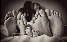 Newborn family photo--a different view of our feet