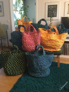 My braided baskets in a group photo, part 3 :)