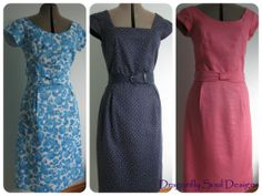 A trio of dresses for summer, variations on a theme that suits my shape :)