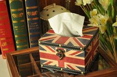 Handmade Wooden Tissue Square box Jack union pattern by CharmParts, $23.50