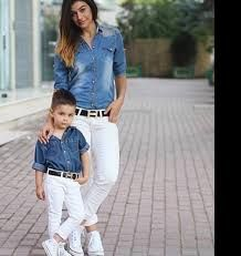 Resultado de imagem para look tal mãe tal filho