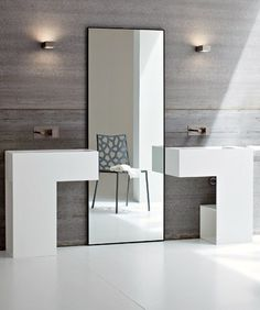 Acrylic washbasin with towel rail ARGO by Rexa Design #bathroom #minimal @Rexa Design
