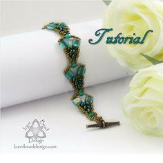 Pdf Tutorial Mercia Bracelet with Super Duo by IceniBeadDesign