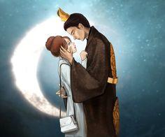 Moon Lovers- I miss this show. I need to watch it again. Moon Lovers Cast, Wattpad Background, Chibi, Anime Korea, Asian Artwork, Wang So, Asian Love, Lee Joon, Joon Gi