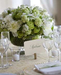 beautiful Green Rose and Hydrangea reception wedding flowers,  wedding decor, wedding flower centerpiece, wedding flower arrangement, add pic source on comment and we will update it. www.myfloweraffair.com can create this beautiful wedding flower look.