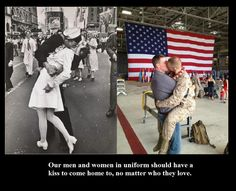 No matter how you feel about same sex couples, ALL service members deserve love & support, no matter from who.