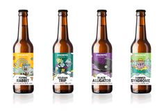 Monyo Brewing Crafts A Series of Playful New Labels — The Dieline Beer Packaging, Food Packaging Design, Packaging Design Inspiration, Branding Design, Craft Beer Labels, Wine Labels, American Ipa, Beer Label Design, Blonde Ale