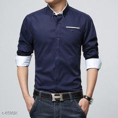 Shirts Stylish Solid 100% Cotton Men's Shirt Fabric: 100% Cotton Sleeves: Full Sleeves Are Included Size:  S-  38 in, Chest- 39 in, Shoulder- 15 in Length- 28 in, M-  40 in, Chest- 40 in, Shoulder- 16 in Length- 29 in, L- 42 in Chest- 42 in, Shoulder- 17 in Length- 30 in, XL- 44 in Chest- 44 in, Shoulder- 18 in Length- 31 in, , Type: Stitched Description: It Has 1 Piece Of Men's Shirt Pattern: Solid Sizes Available: S, M, L, XL   Catalog Rating: ★4.1 (890)  Catalog Name: Mens Partywear Solid Cotton Casual Shirts Vol 10 CatalogID_74628 C70-SC1206 Code: 694-659821-0621