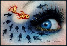 """""""Be Different"""", Make-Up Art by Pixie Cold. www.pixiecold.deviantart.com"""