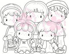 C.C. Designs Swiss Pixie The Group Rubber Stamp