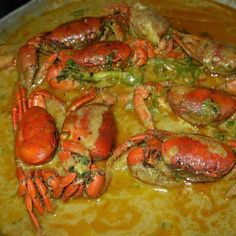 Punches en Alhuashte | Recetas 100% Salvadoreñas (crabs in pumpkin seeds souce)