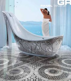 I'm not that big on having a bathtub shaped like a high heel, but I love the idea for the shape of the inside of the tub!