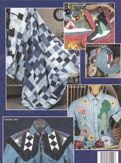 Easy Denim Quilting Patterns - 10 Quick and Easy Projects - House of White Birches 141047 - SewJewel - 2