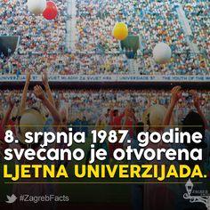 Nastupalo je 6 423 sportašice i sportaša iz 122. zemlje. Plamen na otvaranju zapalio je Dražen Petrović.   Tijekom Univerzijade računalni populacijski sat u UN-u izračunao je da će se 5 milijarditi stanovnik Zemlje roditi 11. srpnja 1987. godine. Bio je to Matej Gašpar.  #ZagrebFacts #Zagreb #ZG #Agram #Univerzijada #Universiade #sports #1987