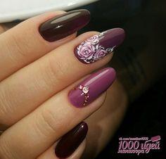 100 Beautiful Stunning Flower Nail Art Designs That You Will Love Latest Nail Art, Trendy Nail Art, New Nail Art, Nail Polish Designs, Nail Art Designs, Pineapple Nail Design, Hair And Nails, My Nails, Nail Ink