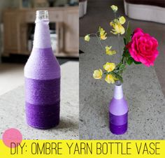Oh my! Ombre DIY Vases | AllFreeDIYWeddings.com