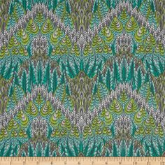 Tula Pink Fox Field Botanica Shade from @fabricdotcom  Designed by Tula Pink for Free Spirit, this cotton print is perfect for quilting, apparel and home decor accents. Colors include teal, mint, lime and shades of grey.