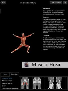 iMuscle Home - Discover new exercises that can be carried out in the comfort of your own home. Health And Fitness Apps, Arm Circles, Own Home, At Home Workouts, Exercises, Gym, Home Workouts, Exercise Routines