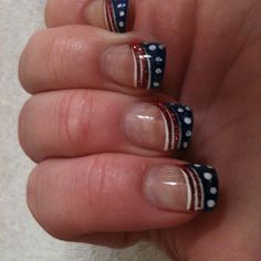 My nails for the fourth of July