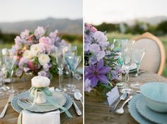 Sage and Lavender Table Decor, Sage and Lavender Flowers, Sage and Lavender Centerpieces