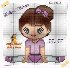 Bailarina Cross Stitch Alphabet, Cross Stitch Baby, Cross Stitch Charts, Cross Stitch Patterns, Pixel Crochet Blanket, Afghan Crochet Patterns, Cross Stitching, Cross Stitch Embroidery, Embroidery Patterns