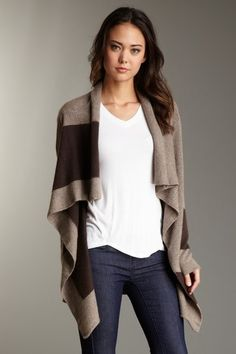 Cashmere Striped Cardigan.