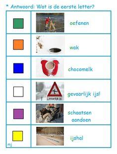 * Wat is de eerste letter? 2-2 School, Winter, Winter Time, Winter Fashion