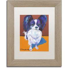 Trademark Fine Art Nik Canvas Art by Pat Saunders-White, White Matte, Birch Frame, Size: 11 x 14, Red