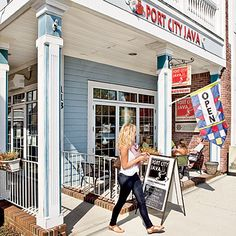 Port City Java in Southport, North Carolina. Just a few doors down from the Gallery! #Coffee #Cafe #OnSouthportTime