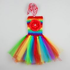 Little Girls Flouncy Tutu Dress - must start making things for Kensely!!