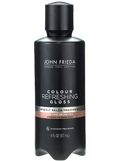 Hair (home color—glaze): John Frieda Colour Refreshing Gloss made our hair softer and glossier than any double-processed blonde has a right to be