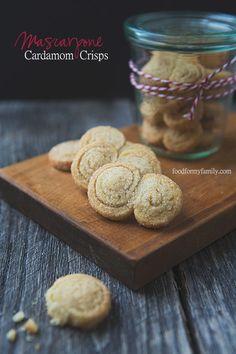 Mascarpone Cardamom Crisps #cookies #recipe via FoodforMyFamily.com