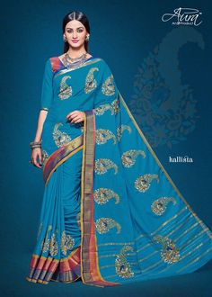 COTTON SILK WITH EMBROIDERY