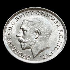 1919 George V Silver Threepence - BU