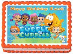 "BUBBLE+GUPPIES+Party+Edible+image+cake+topper+1/4+sheet+(10.5""+x+8"")"