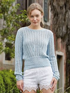 Вязание джемпера Nicci, Rowan Knitting & Crochet Magazine 57 Дизайнер: Lisa Richardson