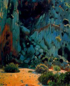 Torrente De Pareis Artwork By Joaquin Mir Trinxet Oil Painting & Art Prints On Canvas For Sale Pastel Landscape, Landscape Art, Landscape Paintings, Landscapes, Art Paintings, Spanish Painters, Spanish Artists, Art En 2d, Classic Paintings