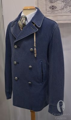 Maritime Pure Wool Peacoat by Shackleton. Made in Britain using