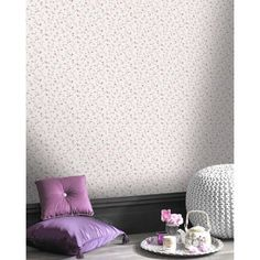 Lazy Sunday Ditsy Floral Wallpaper - Pink