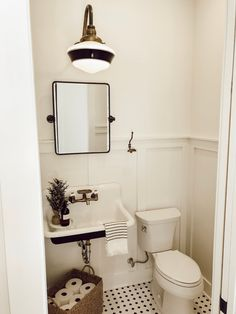 Bathroom decor for your master bathroom renovation. Discover master bathroom organization, master bathroom decor tips, bathroom tile some ideas, bathroom paint colors, and more. Downstairs Bathroom, Bathroom Renos, Bathroom Interior, Master Bathrooms, Wainscoting Bathroom, Tiny Bathrooms, Farmhouse Bathroom Sink, Bathroom Mirrors, Bathroom Remodeling