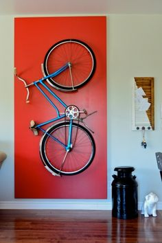 40 Adorable Hanging Bicycle Design Ideas On The Wall To Try Asap - When it comes to bicycle maintenance, bicycle storage racks are very important. Instead of laying your bicycle anywhere, it is imperative to set it in.