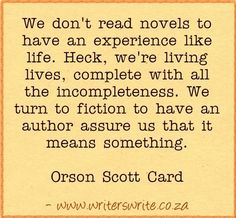 Quotable - Orson Scott Card