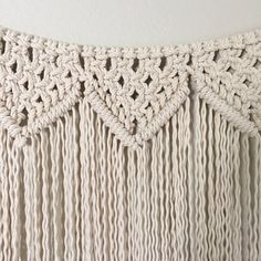 Macrame Wall Hanging/Garland Pattern  Pattern Name - Reverse Clove Hitch Triangle Garland  Buy three patterns and get one free! Coupon Code: MyFreePattern  This is a digital download pattern for a Macrame Garland that I designed. It list the materials needed as well as a step-by-step on how to complete the project. Suitable for a beginner if you work alongside my YouTube Macrame videos which can be found at tinyurl.com/reformfibers  Measures approximately 54 inches wide by 24 inches...