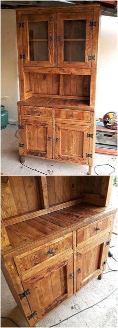 pallets wooden rustic storage cabinet