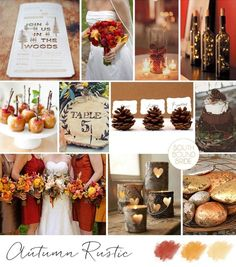 10 Autumn Wedding Colour Palettes