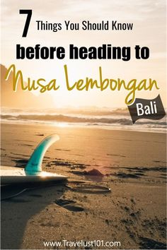 May 2019 - Are you heading to Nusa Lembongan? If you want to make an epic holiday, make sure you check out these 7 essential Nusa Lembongan tips before heading over! Bali Travel Guide, Solo Travel Tips, Travel Advice, Travel Guides, Travel Goals, Travel Abroad, Asia Travel, Paradise Island, Beach Trip