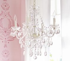 Bella Chandelier | Pottery Barn Kids Lighting ideas for Ellie's room